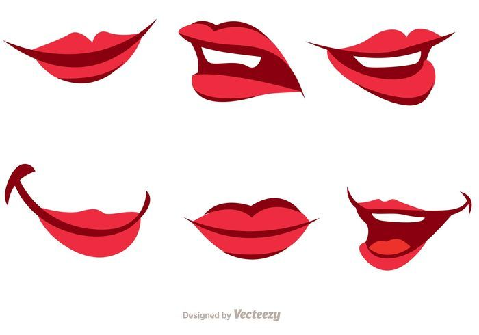Clipart mouth ladies. Girl cartoon vector pack