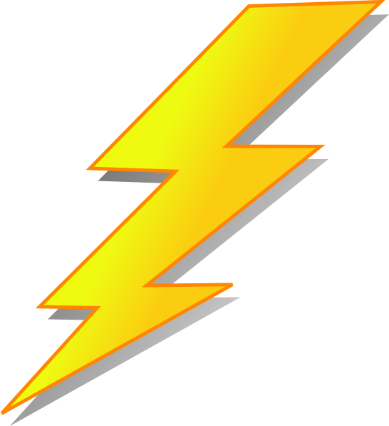 Lightning clipart large. Bolt at getdrawings com