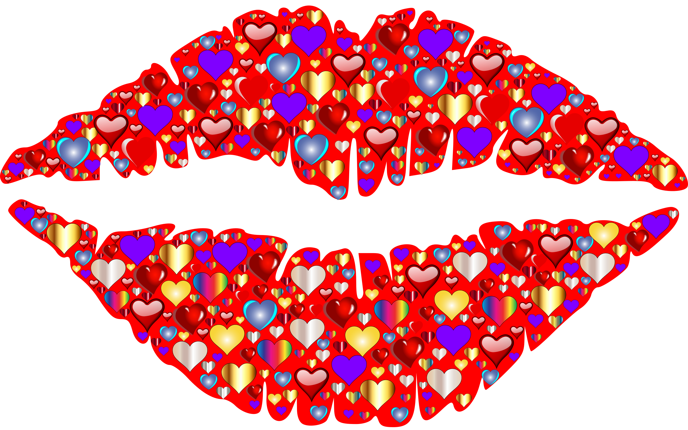 Heart lips icons png. Lip clipart colorful lip