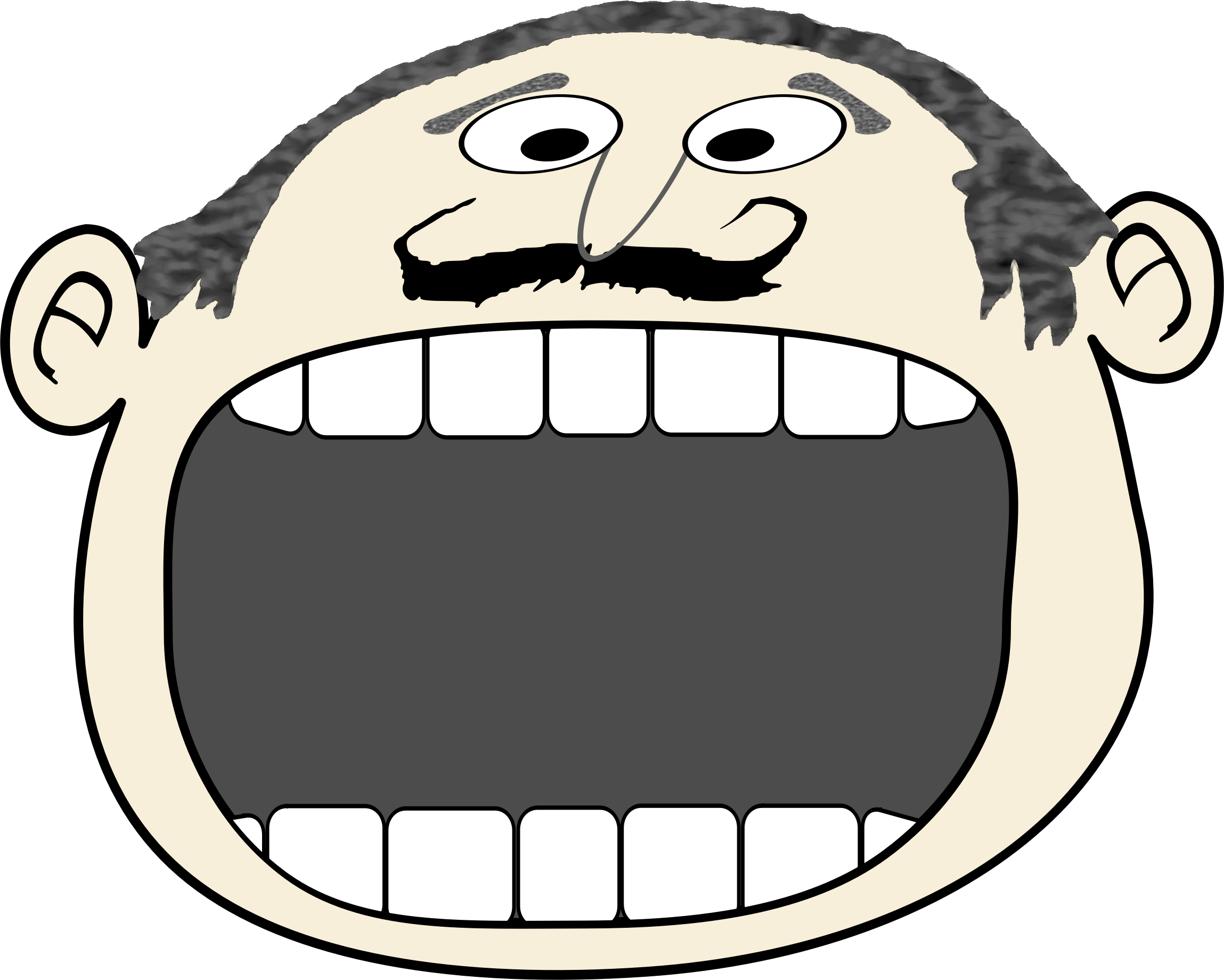 Mouth clipart speech. Cartoon announce big image