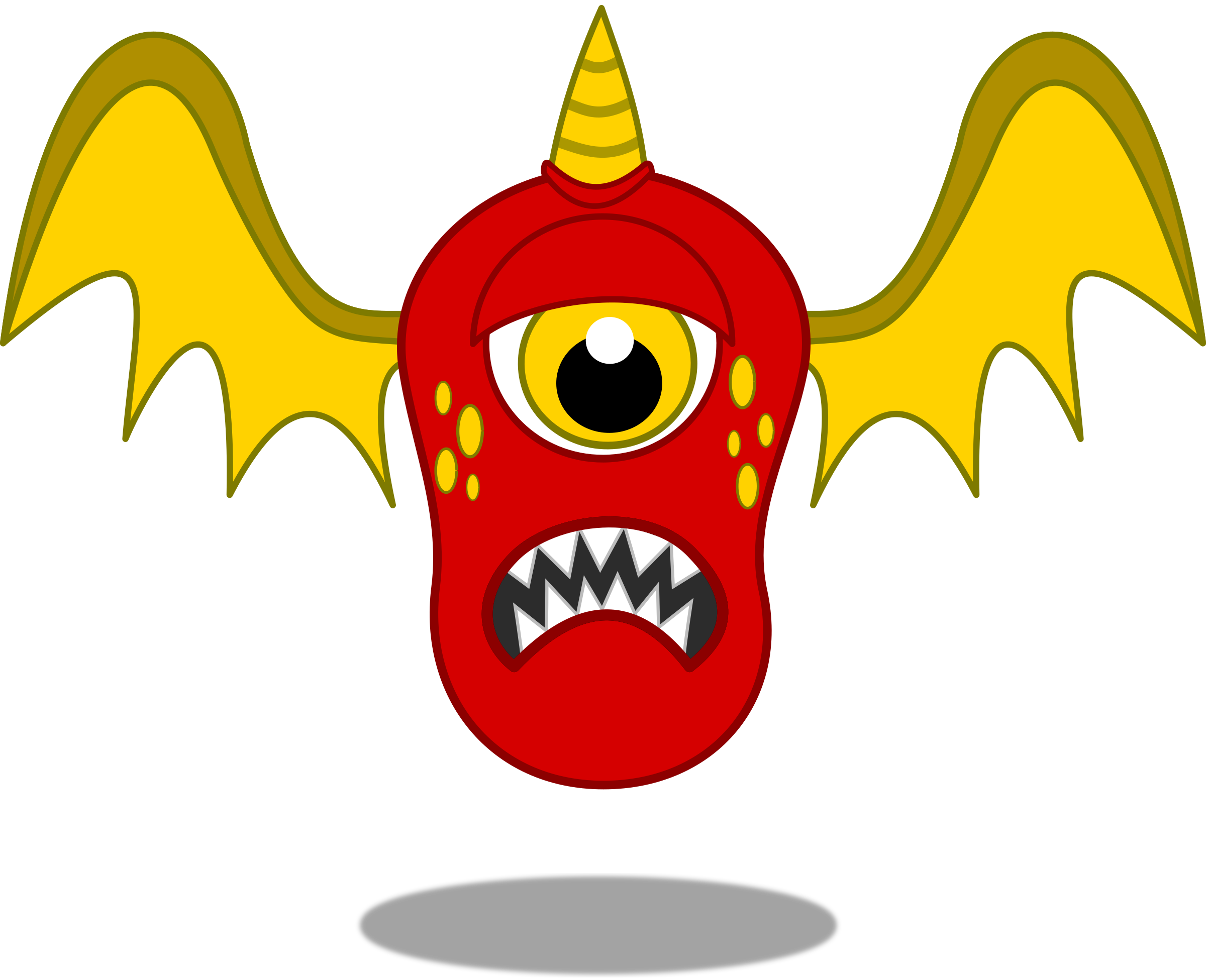 Monster clipart mouth open clipart. Red flying big image