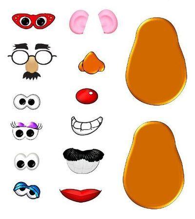 Mouth clipart mr potato head. Parts printables party