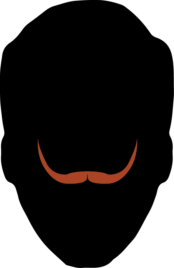 Austin facial hair club. Moustache clipart lip