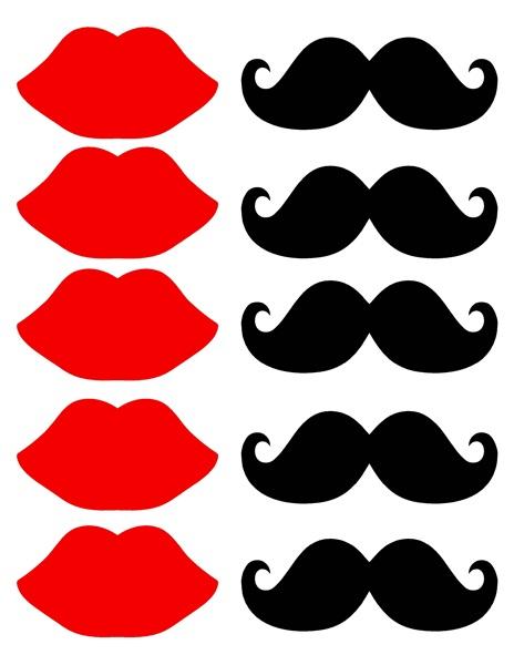 lips clip art. Moustache clipart lip