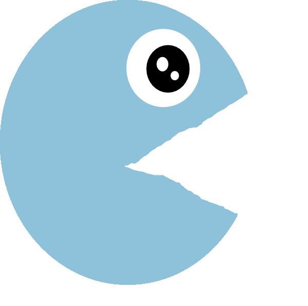 Open mouth clip art. Pacman clipart vector
