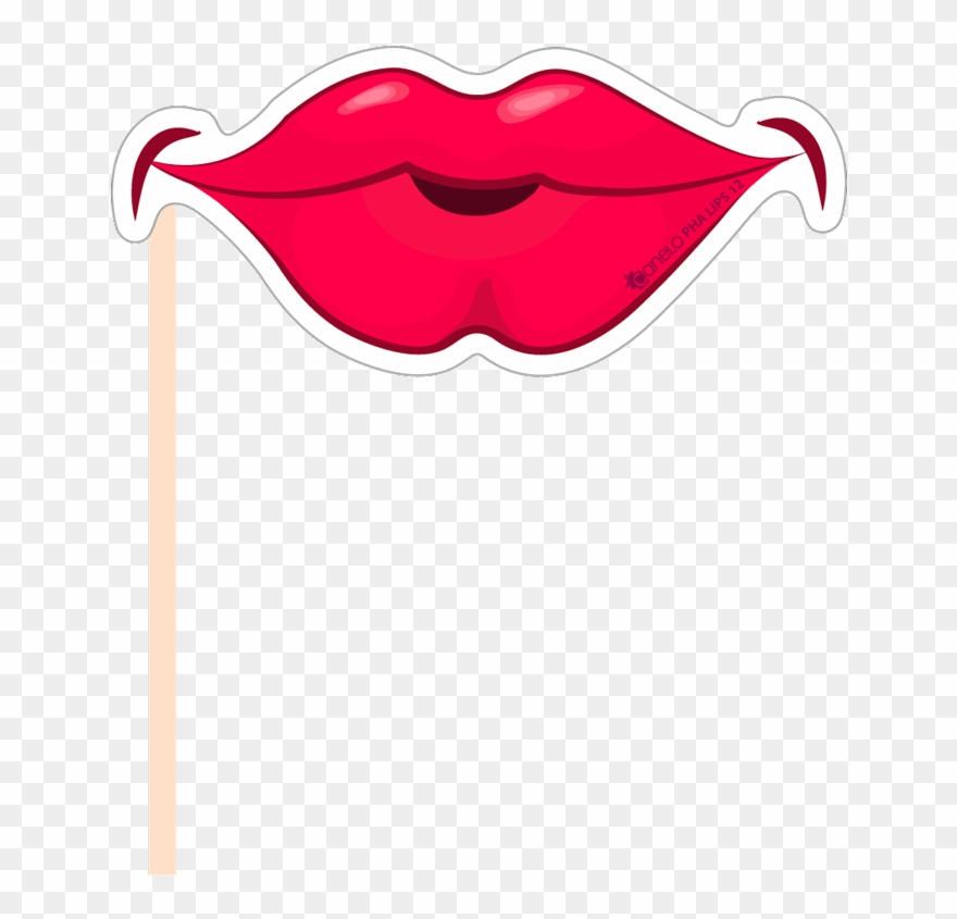 Party photobooth props figure. Clipart mouth photo booth lip
