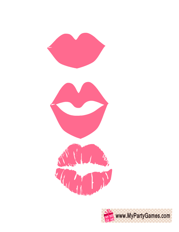 Lips props bridal shower. Clipart mouth photo booth lip