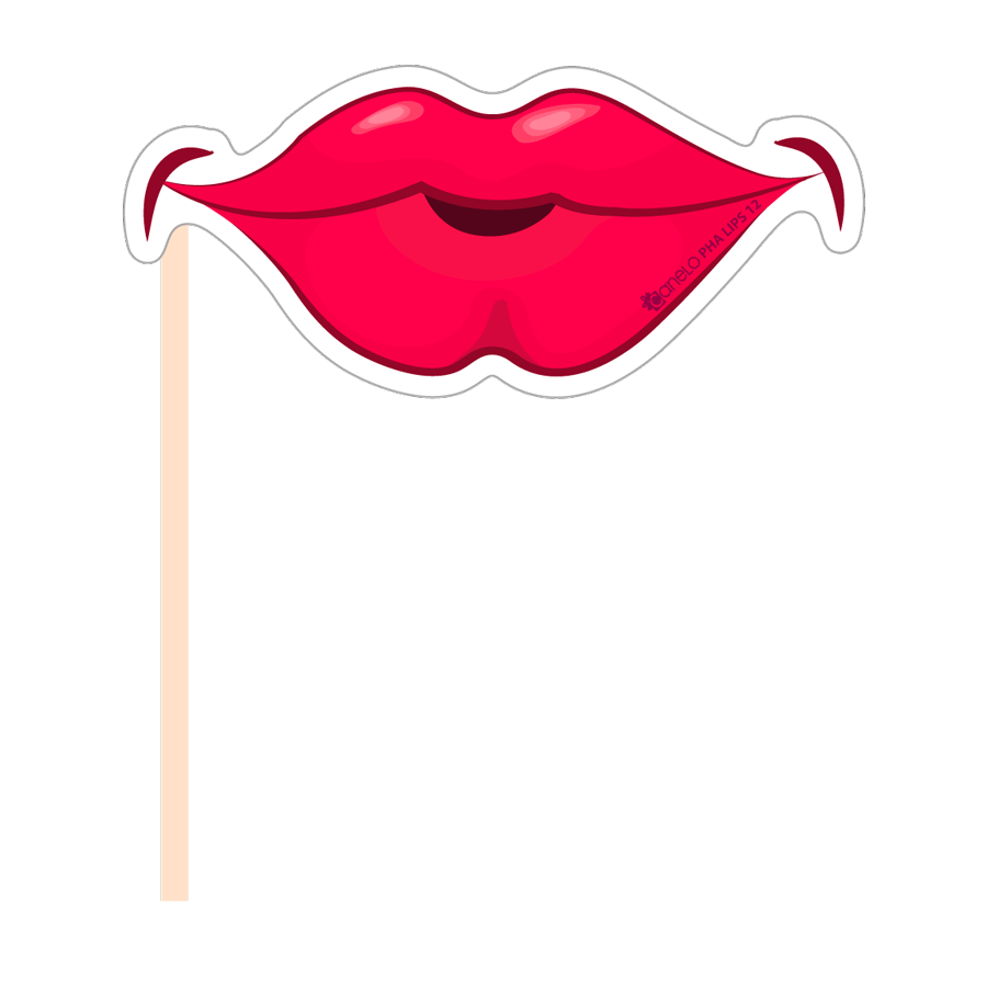 Clipart mouth photo booth lip. Party photobooth props figure