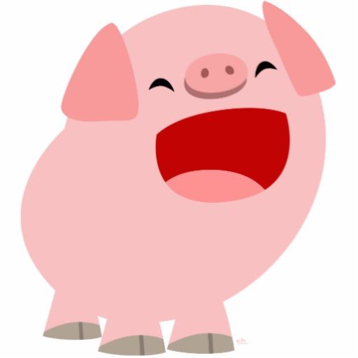 Cute cartoon library clip. Clipart pig mouth