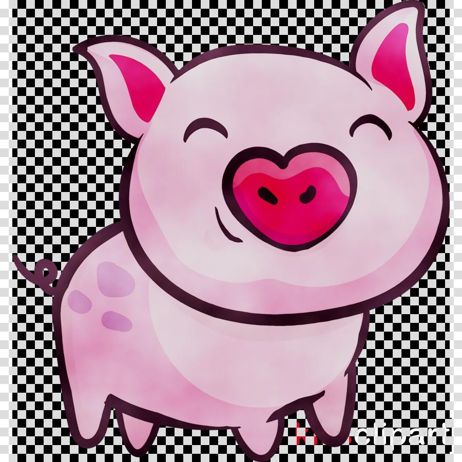 Cartoon illustration graphics . Clipart pig mouth