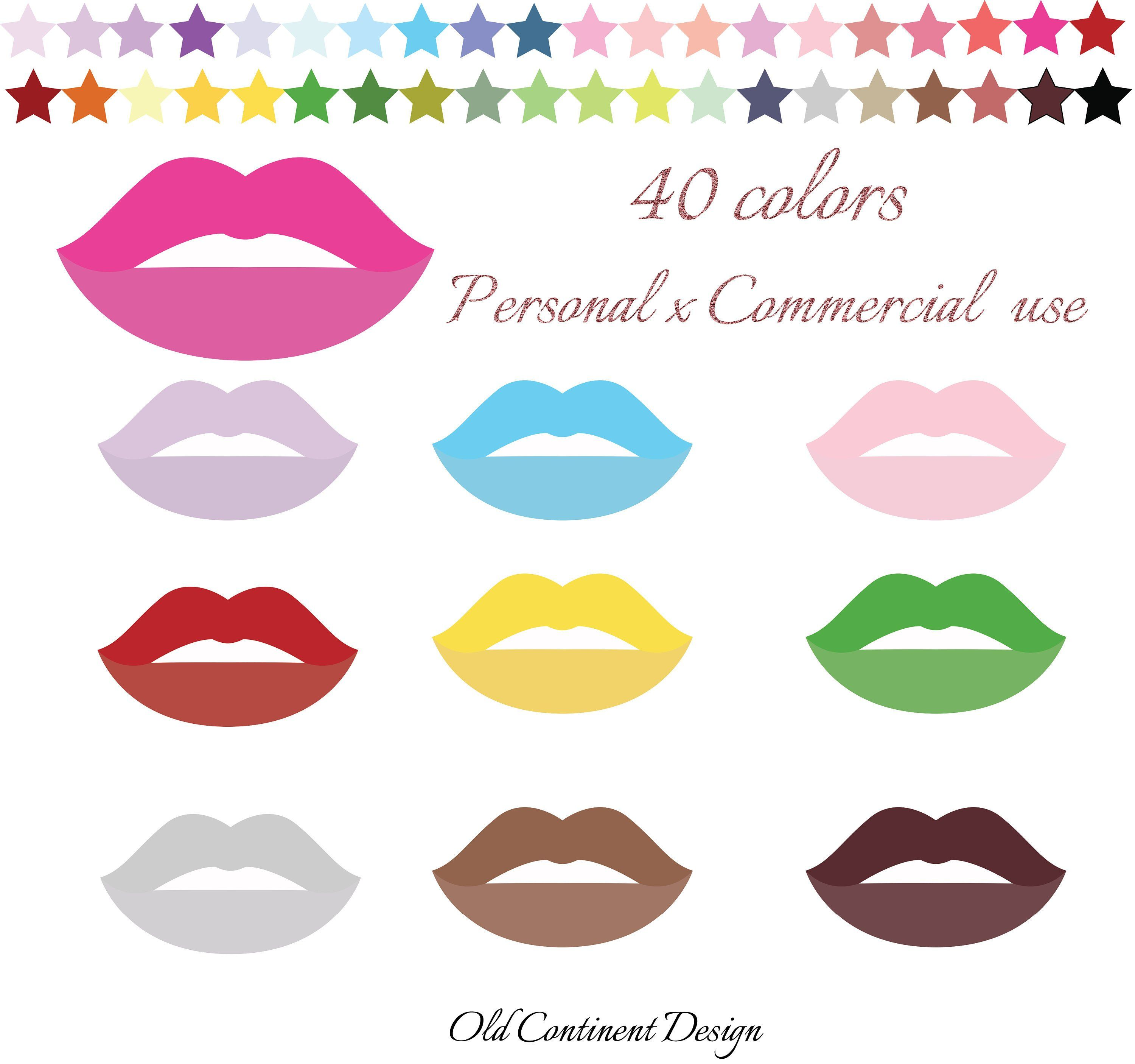 Lip clipart colorful lip. Printable mouth clip art