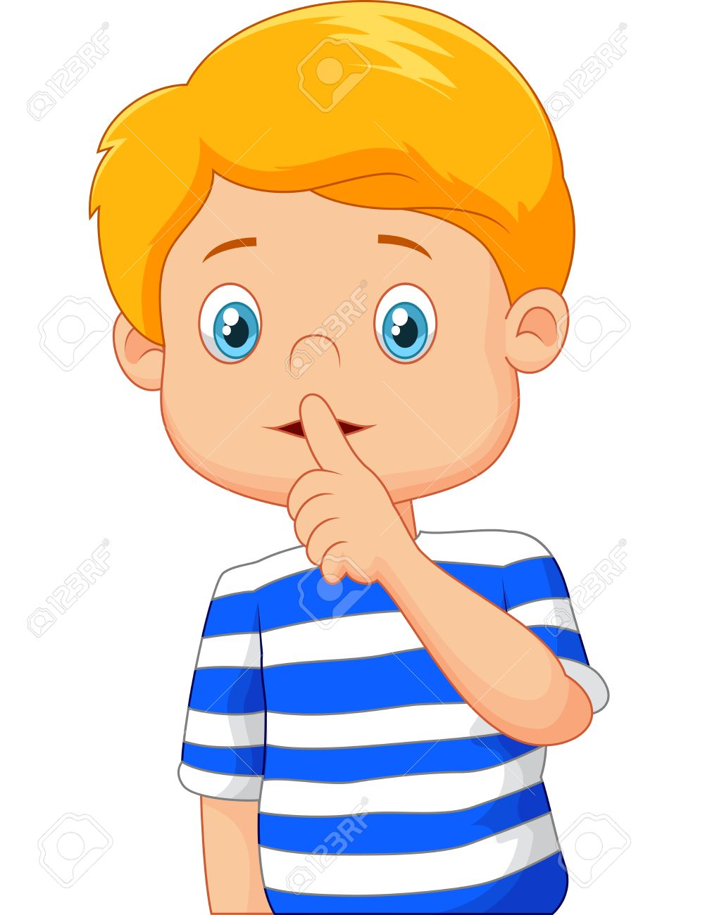 For kids portal . Clipart mouth quiet