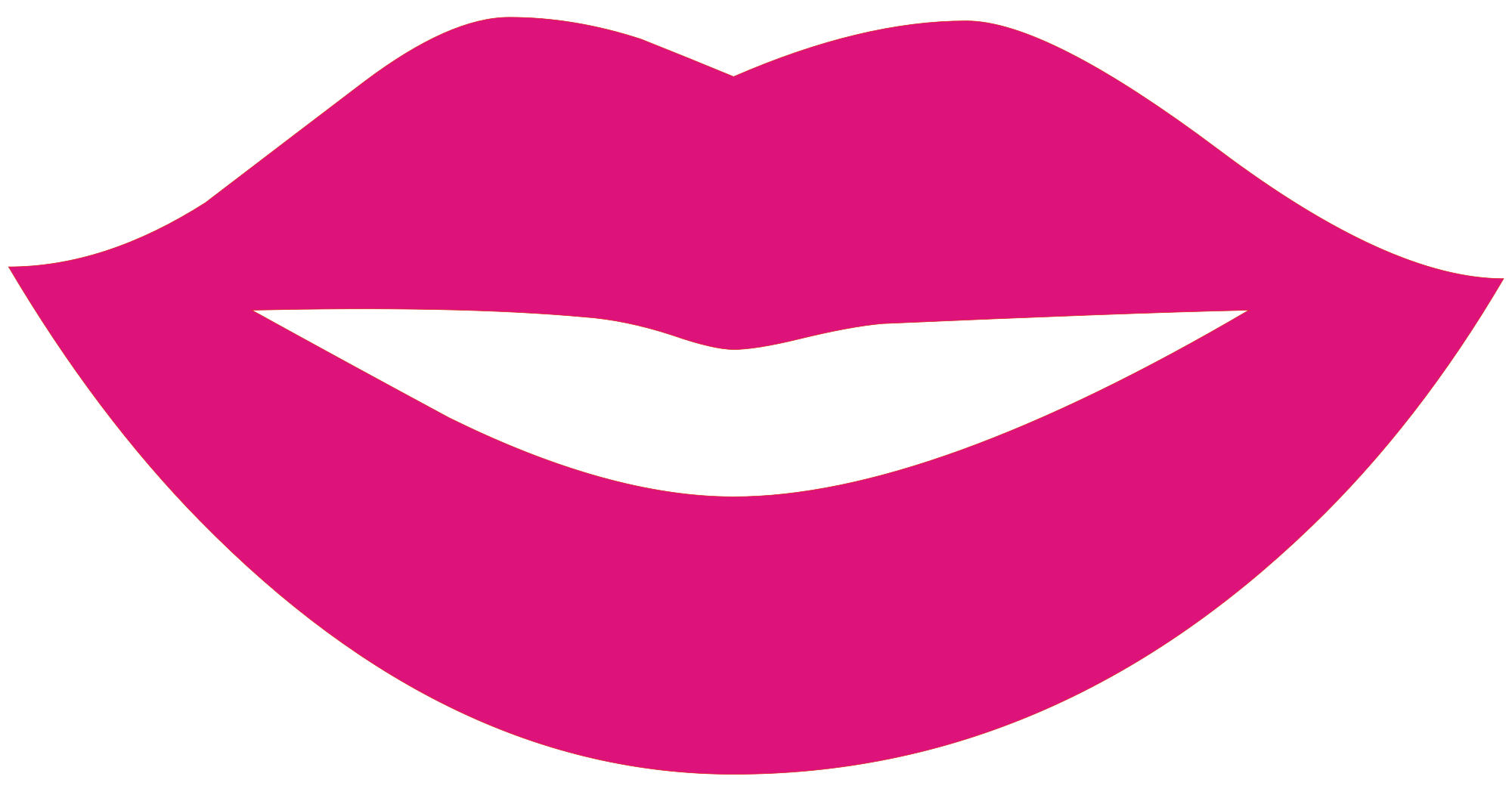 How big lips came. Lipstick clipart girly