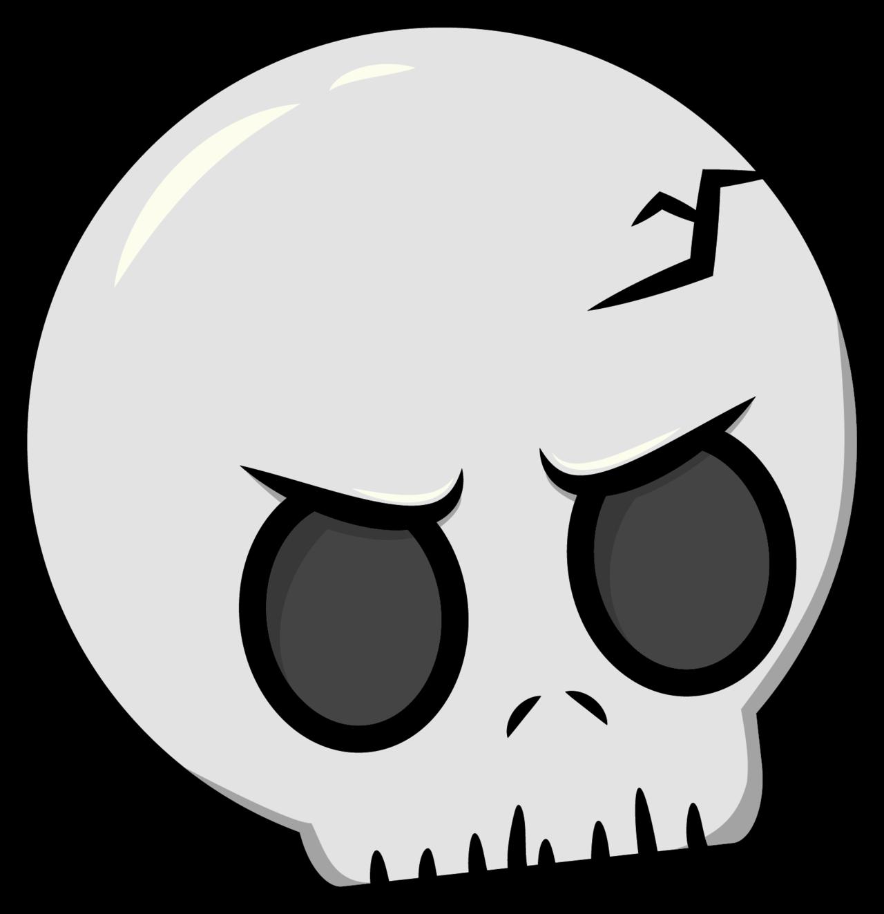 Skeleton clipart toon. Skull by robot panda