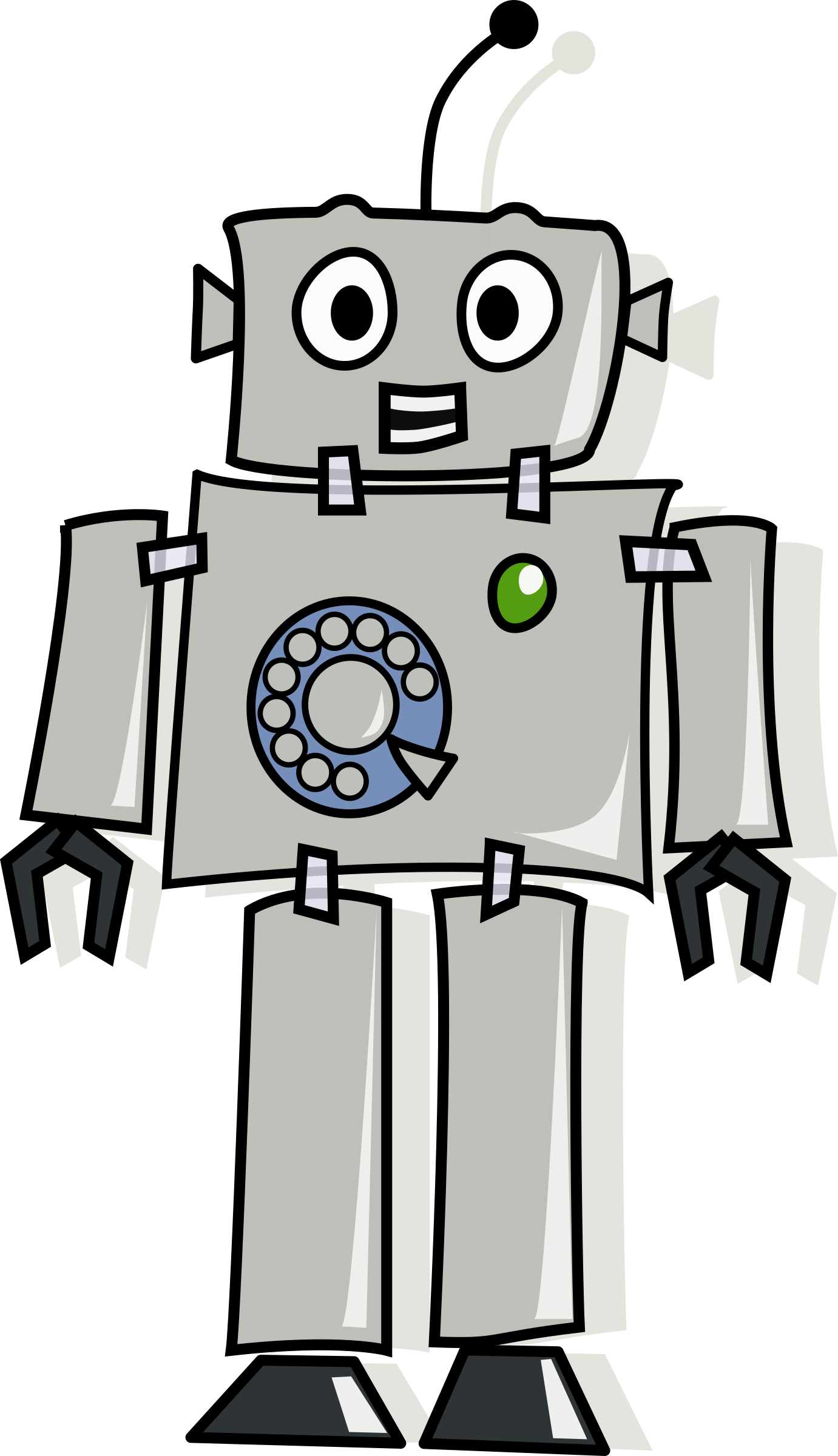 Telephone clipart answer phone. Answerphone robot big image
