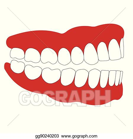 Vector illustration open not. Lips clipart side mouth