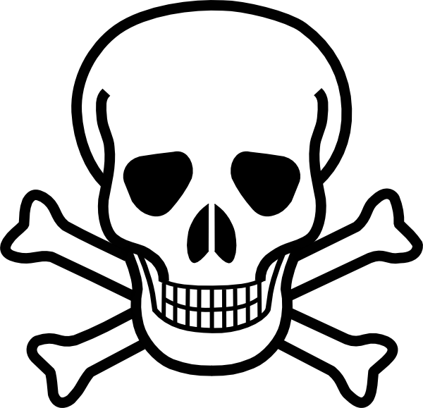 Skull clip art black. Heels clipart easy