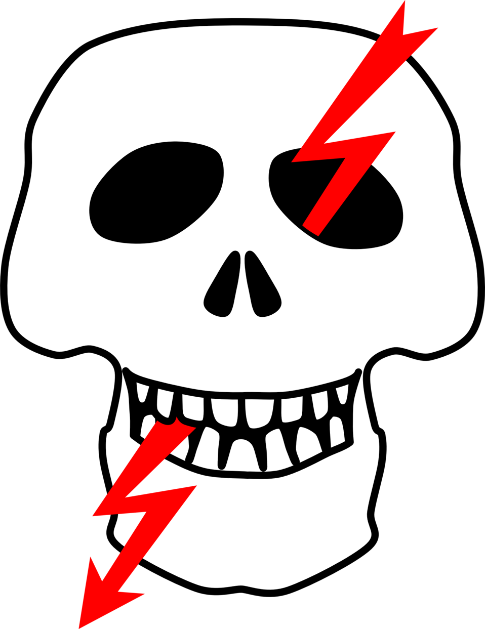 Public domain clip art. Clipart mouth skull