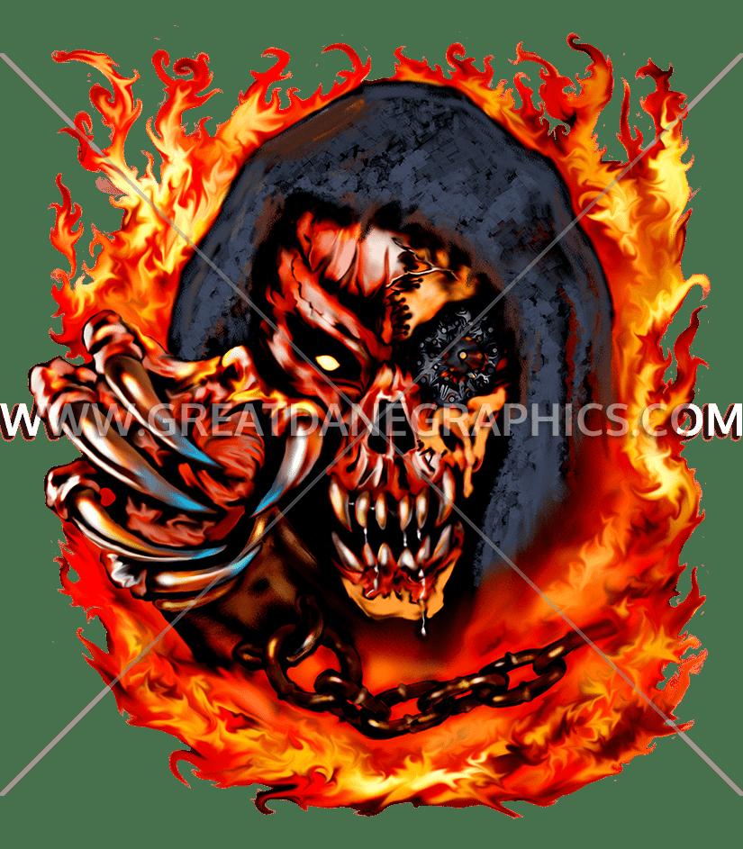 Clipart skull demonic. Demon production ready artwork