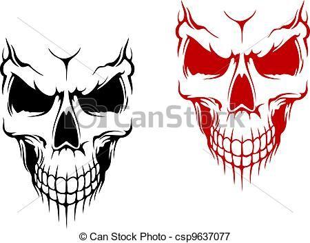 Clipart mouth skull. Vector smiling stock illustration