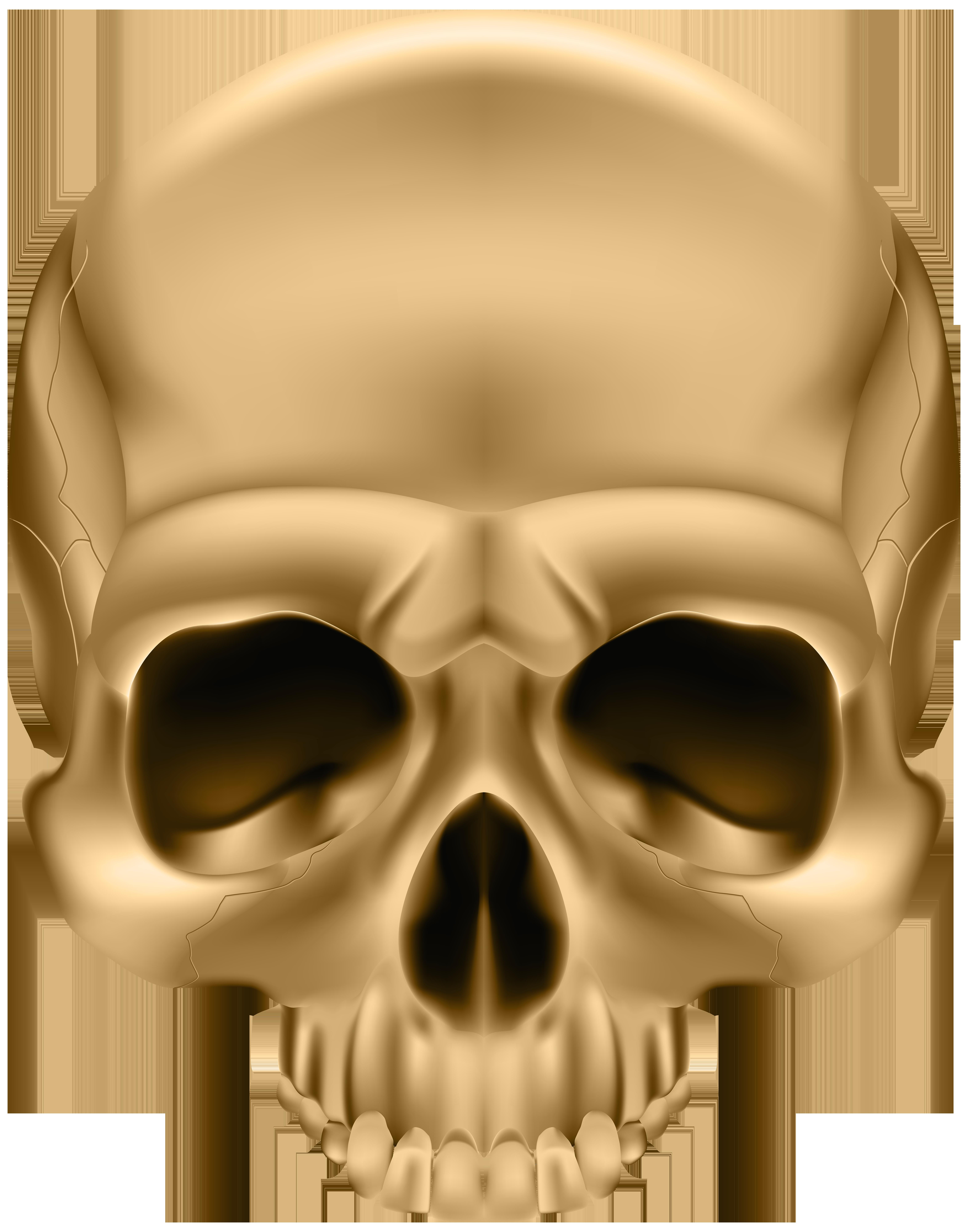 Golden png clip art. Clipart mouth skull