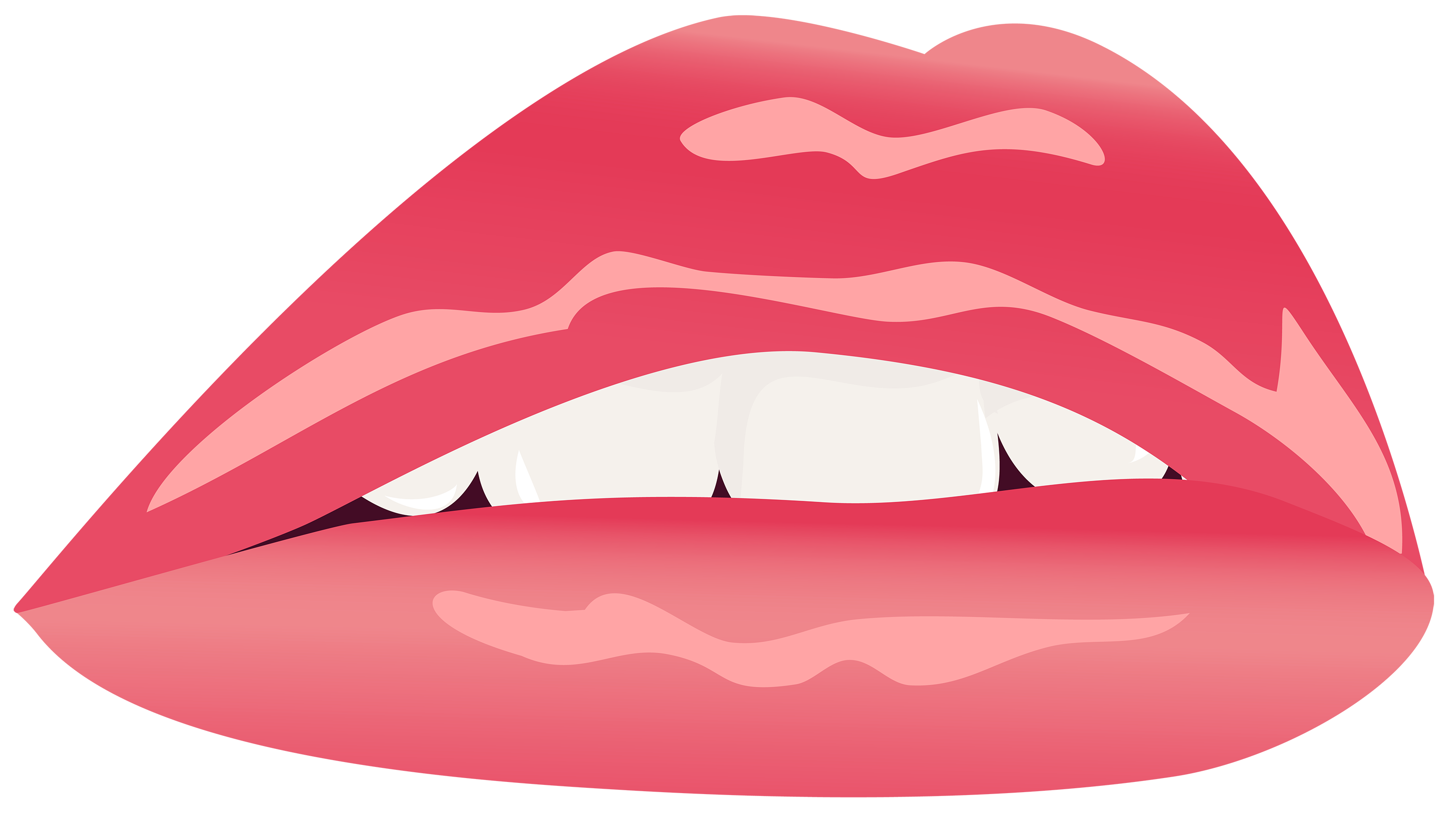 Red lips png image. Lipstick clipart border