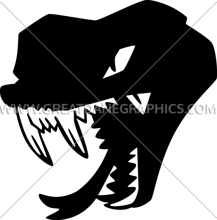 Head production ready artwork. Tooth clipart snake