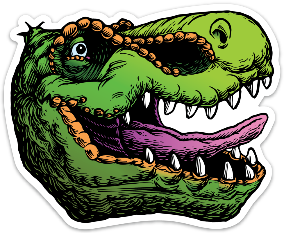 Clipart mouth t rex. Noosh studios head sticker