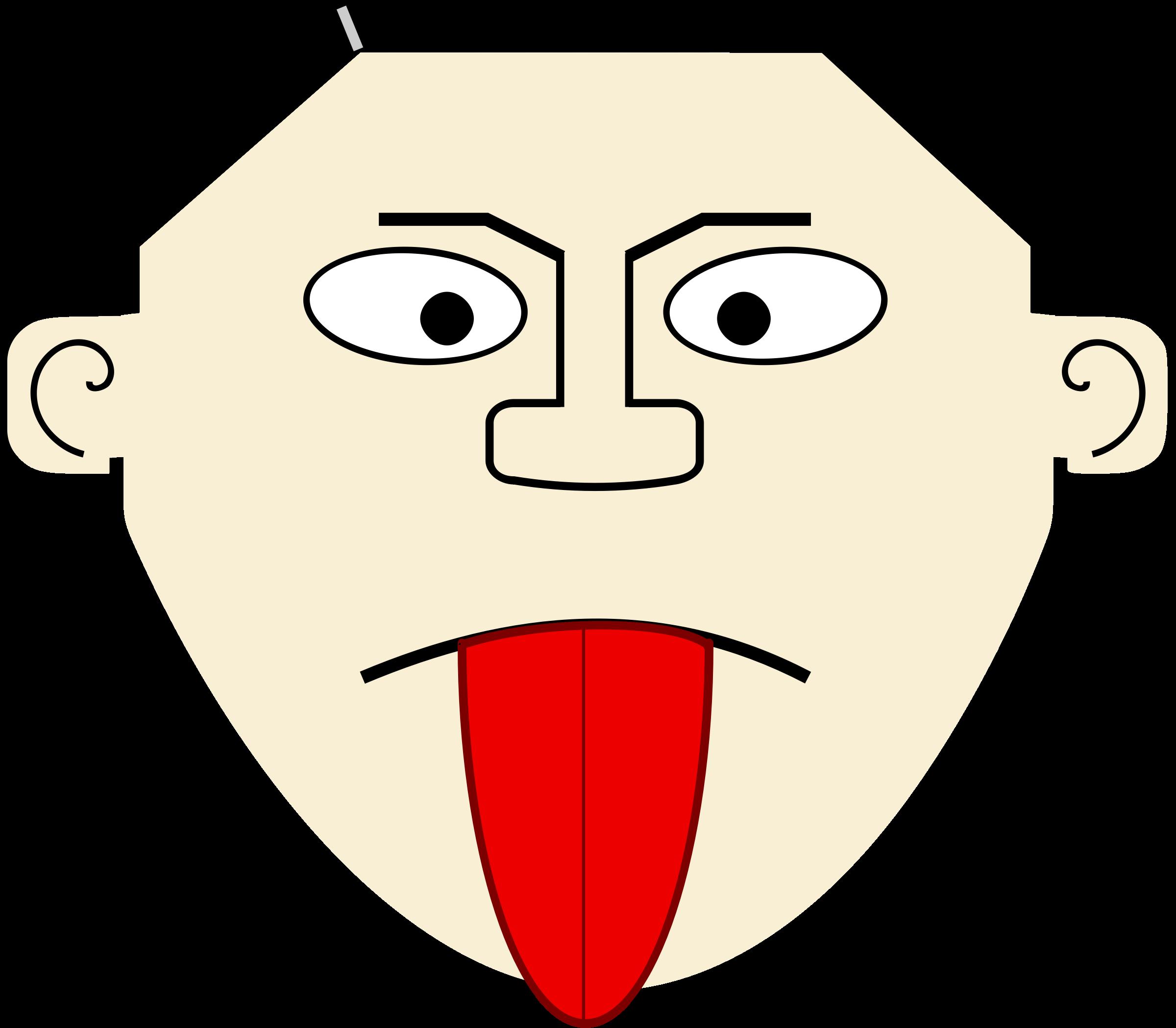 Cartoon tongue big image. Taste clipart tung