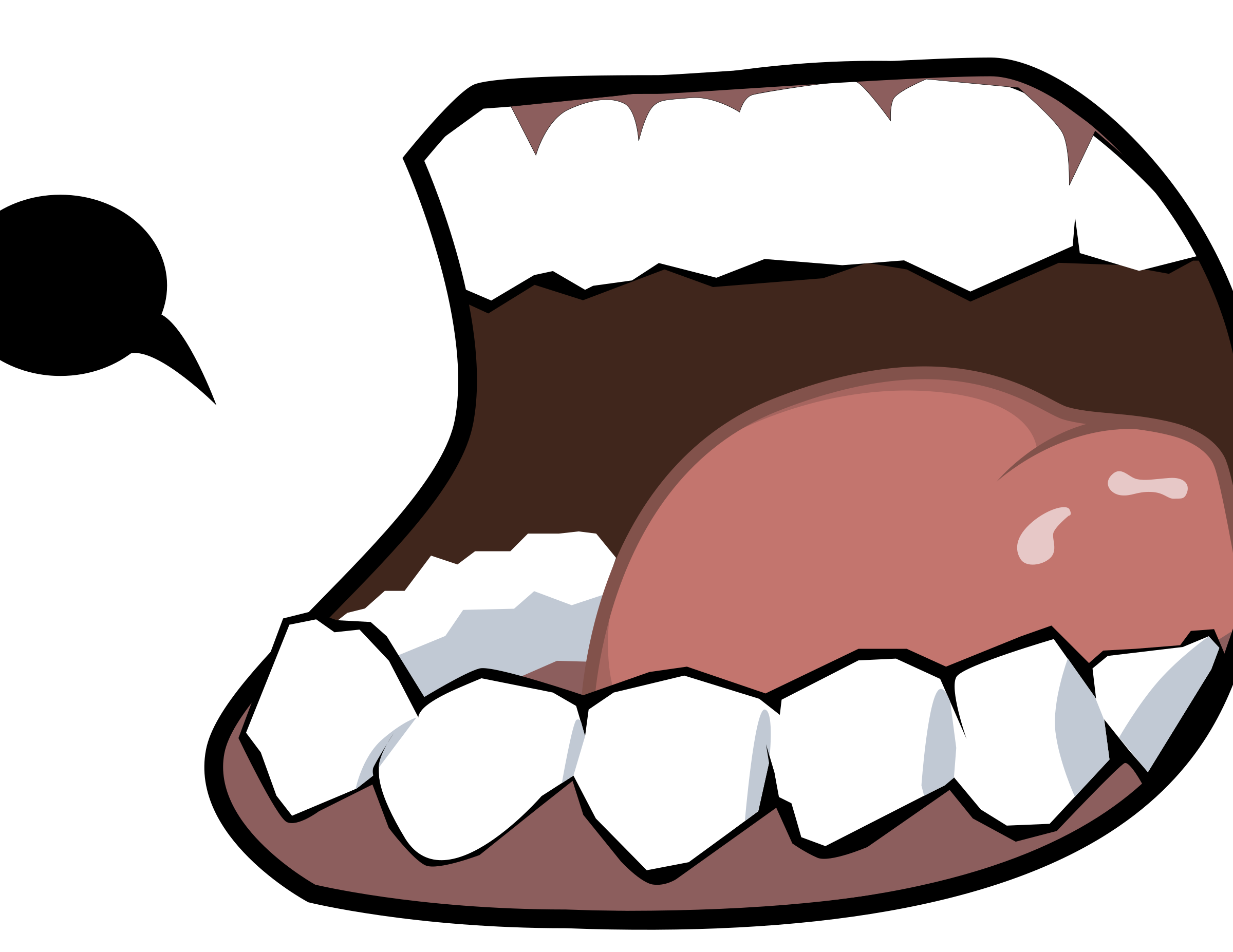Talk clipart mouth. Dark big image png