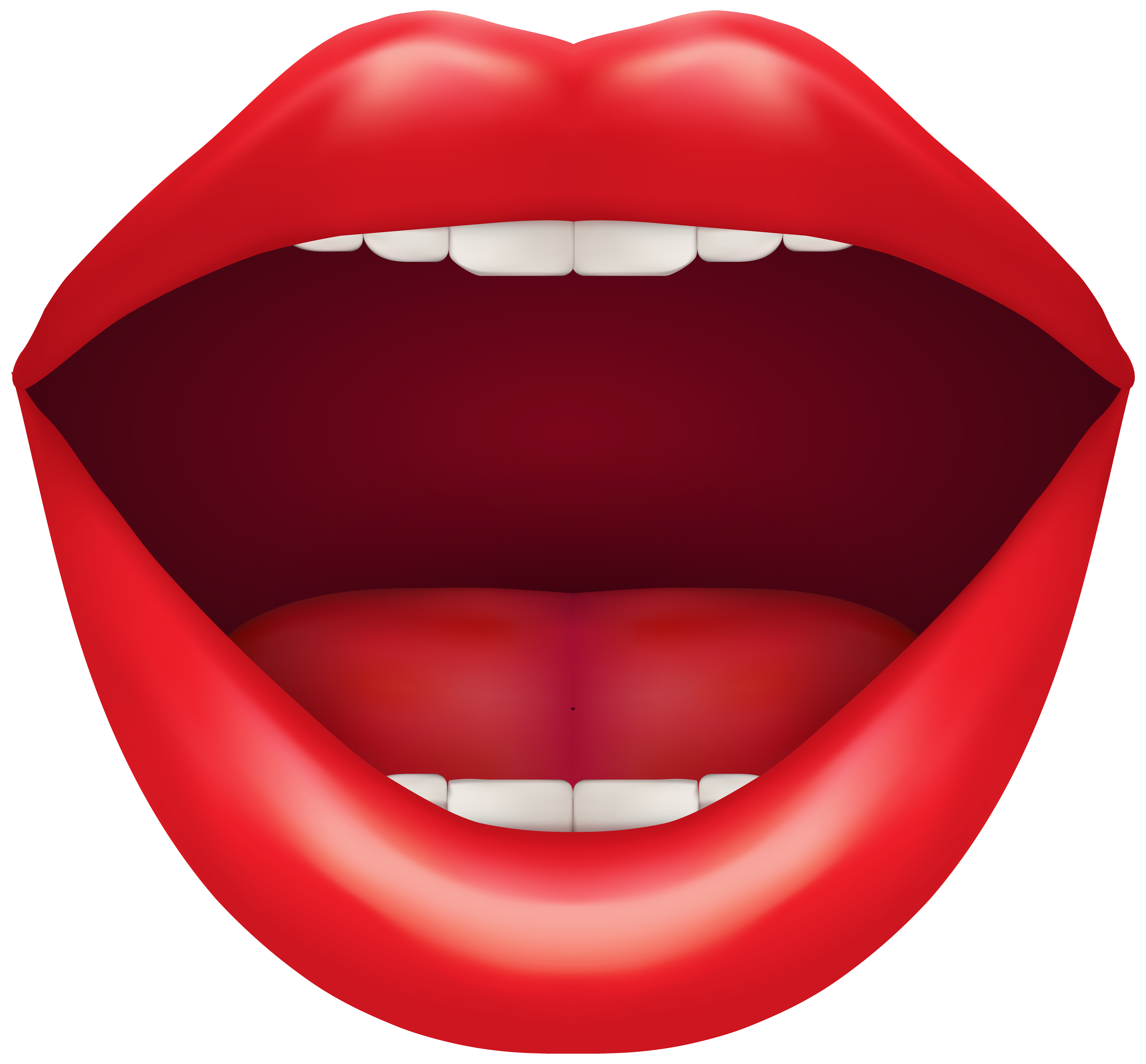 Tooth clipart open mouth. Red png clip art