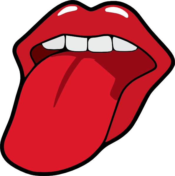 Taste clipart cute. Tongue and mouth