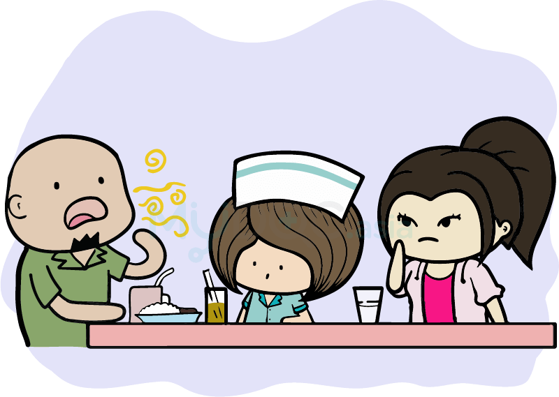 Conversation clipart oral test.  non causes of