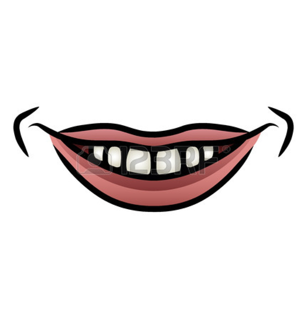 Smile panda free images. Clipart mouth toothy grin