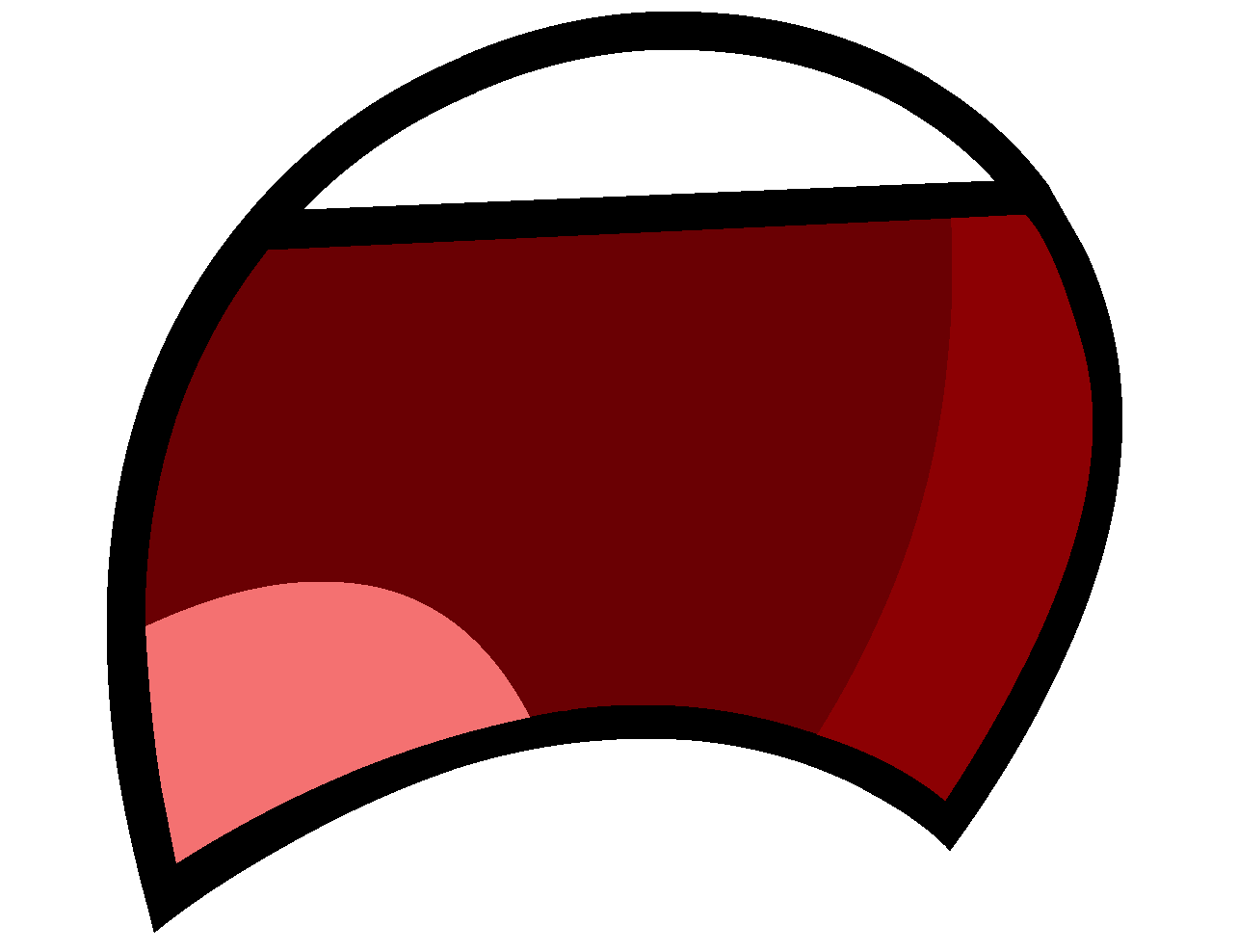 Cartoon group lips frown. Clipart mouth unhappy