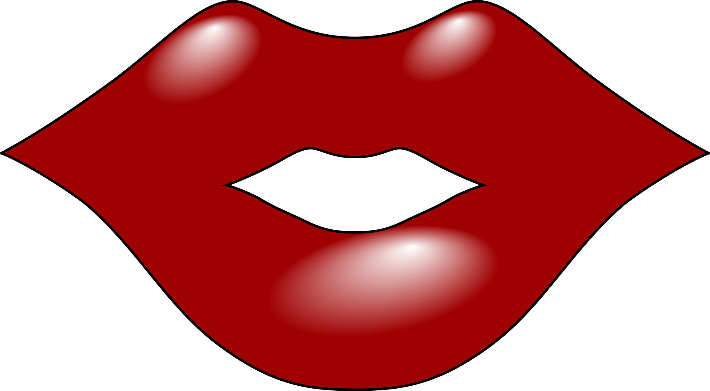 Cartoon mouth group lips. Clipart mustache lipstick