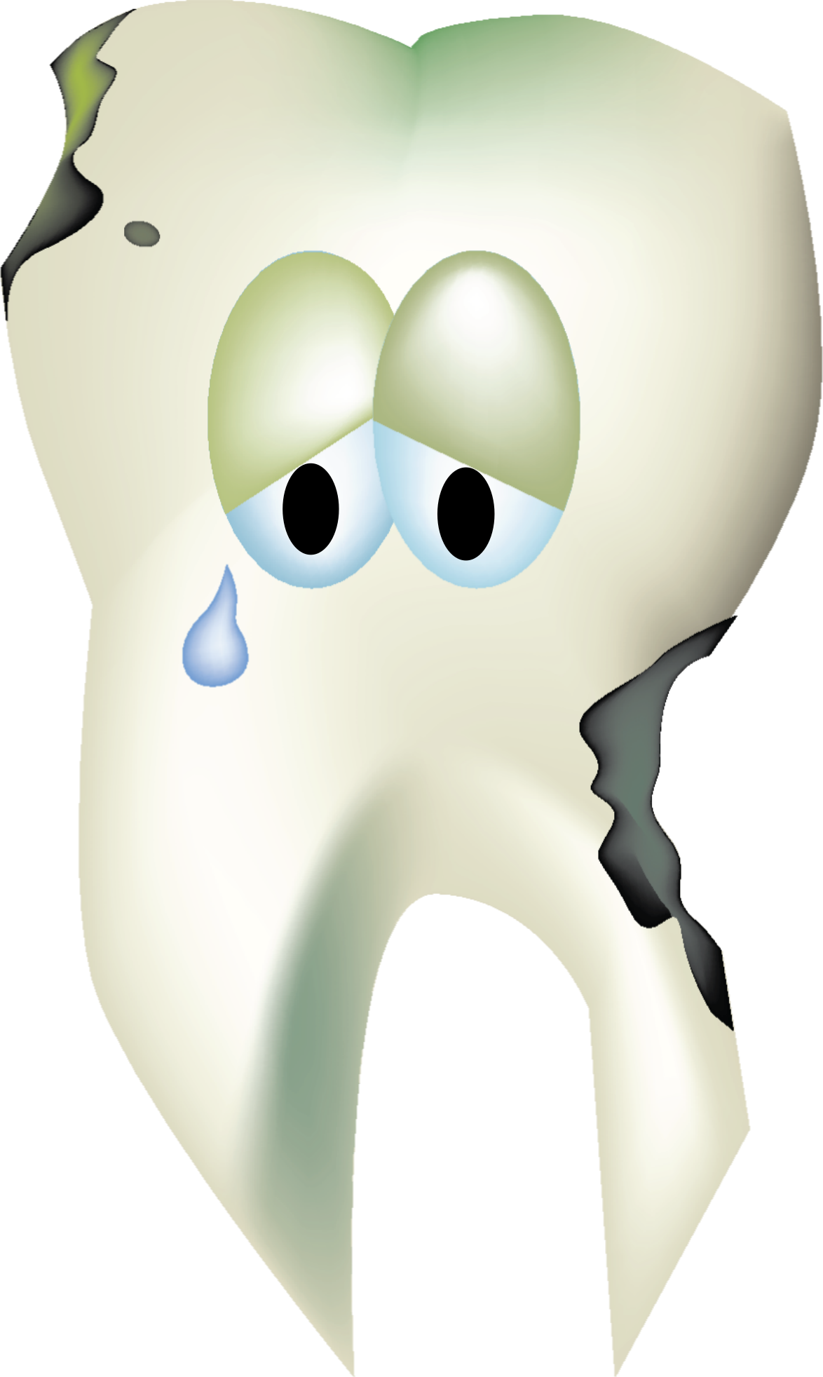 Decay decayed tooth pencil. Dentist clipart dental caries