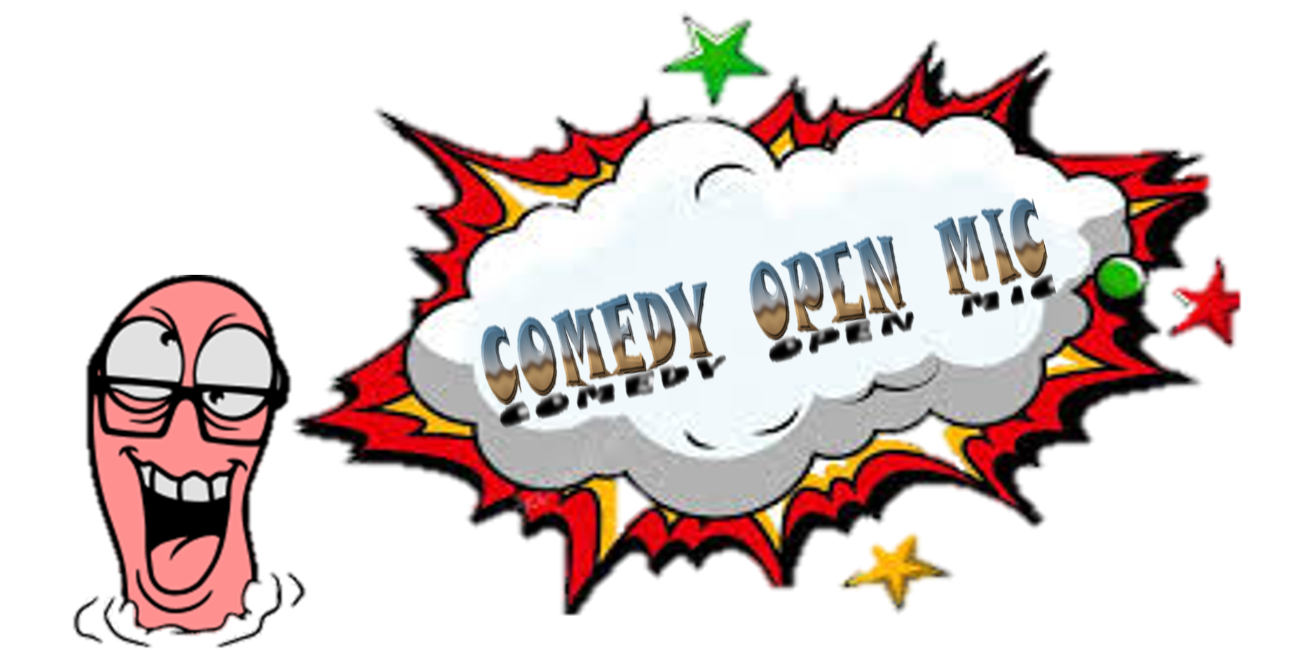 Clipart mouth wide open mouth. Comedy mic logo and