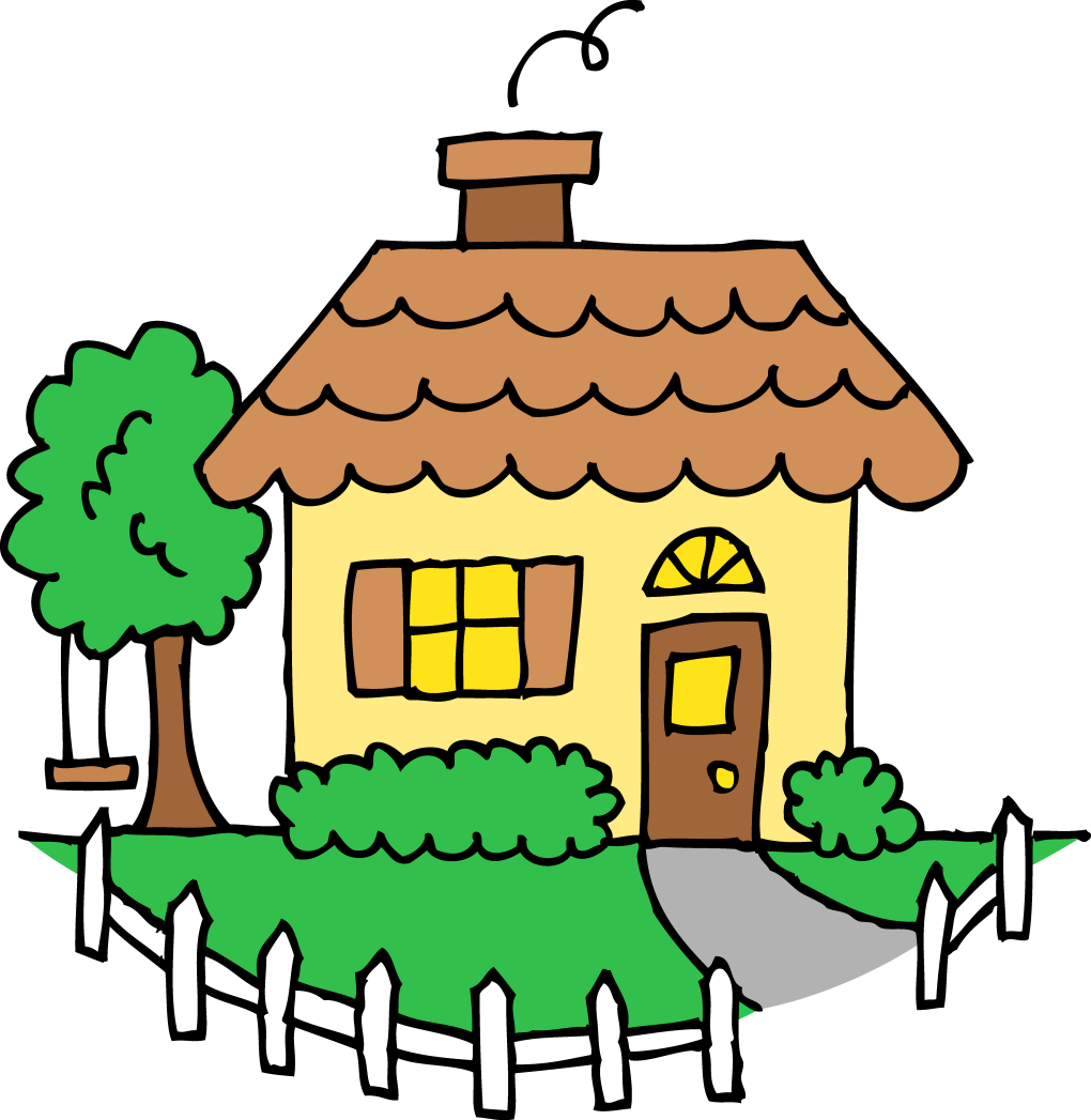 Cottage clipart yard. House with