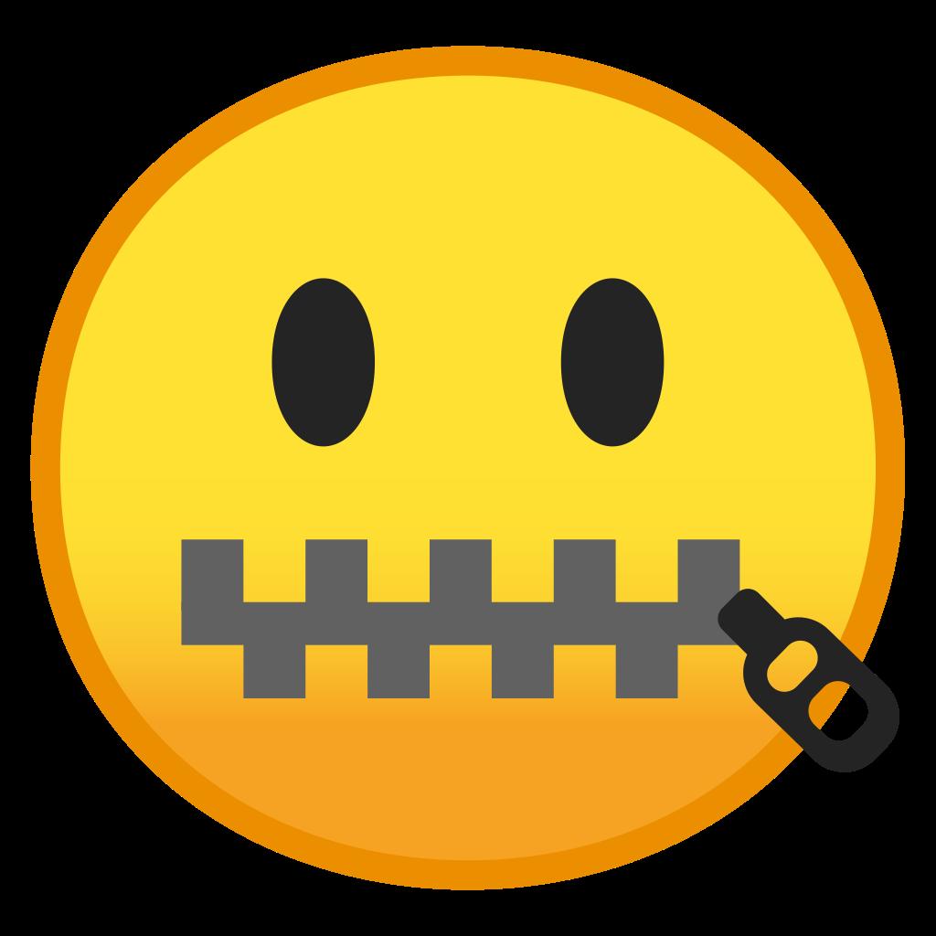 Zipper clipart mouth. Face icon noto emoji