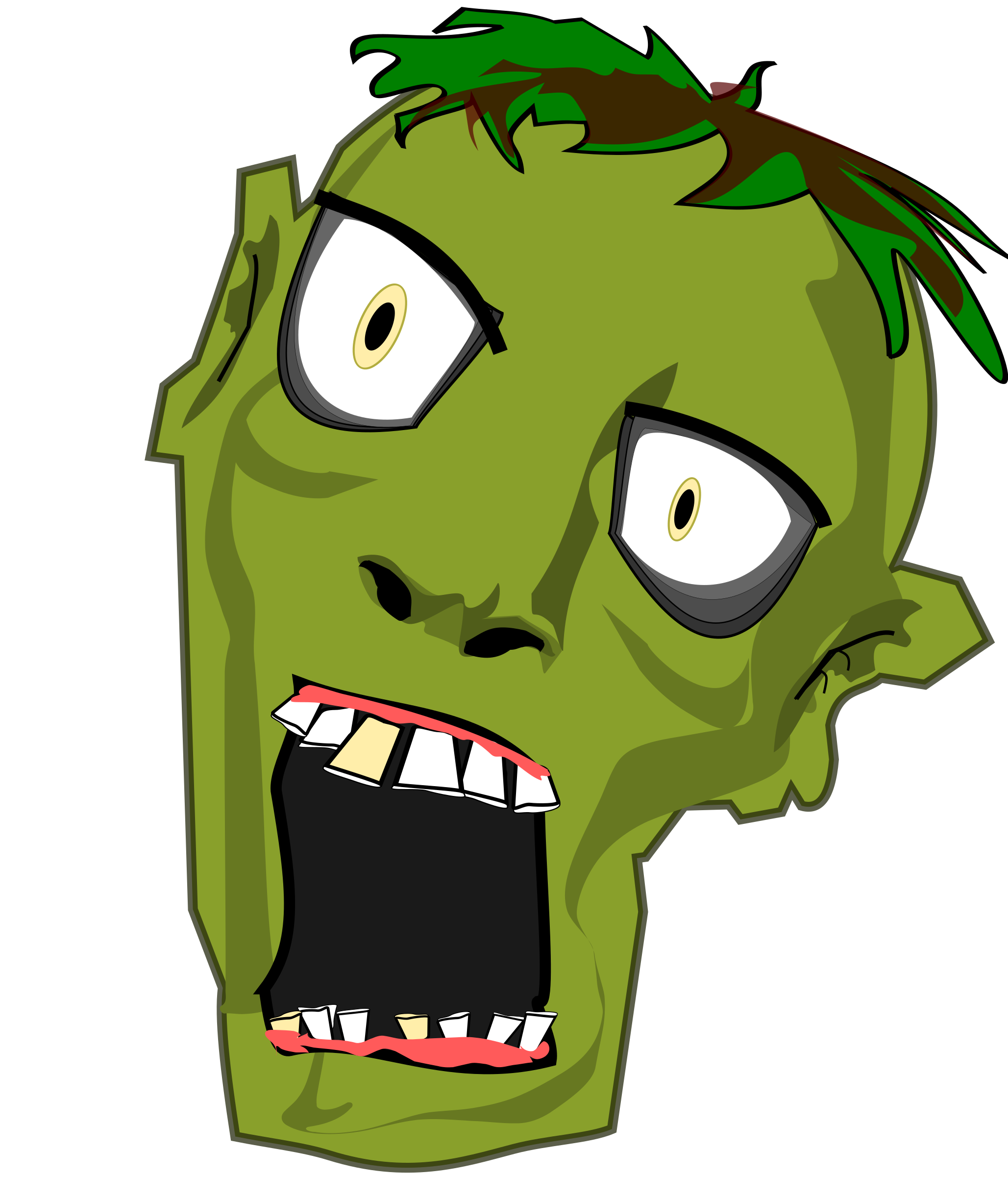 Foot clipart zombie. Head big image png