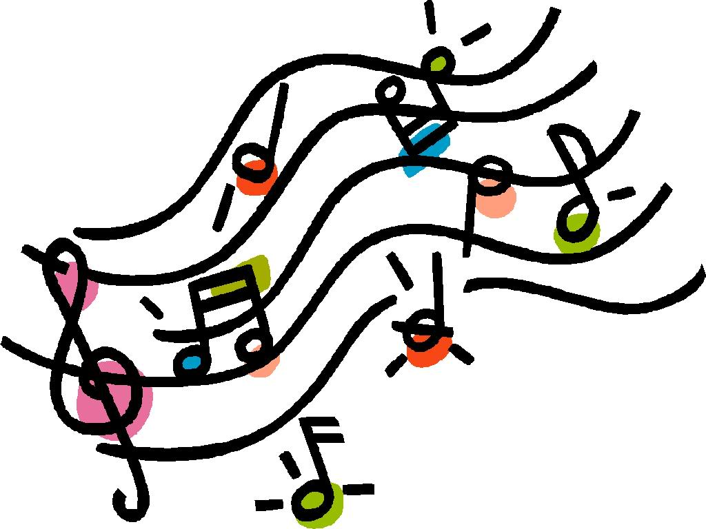 Musical clipart. Notes single music clip