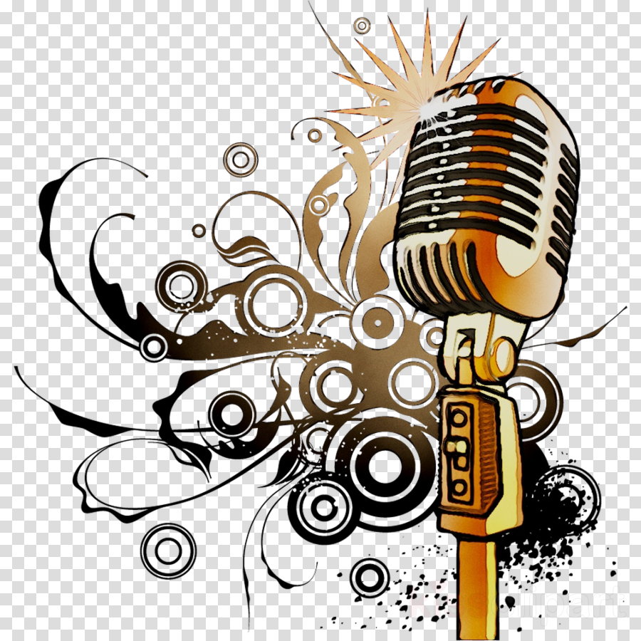 Microphone clipart abstract. Art background music painting