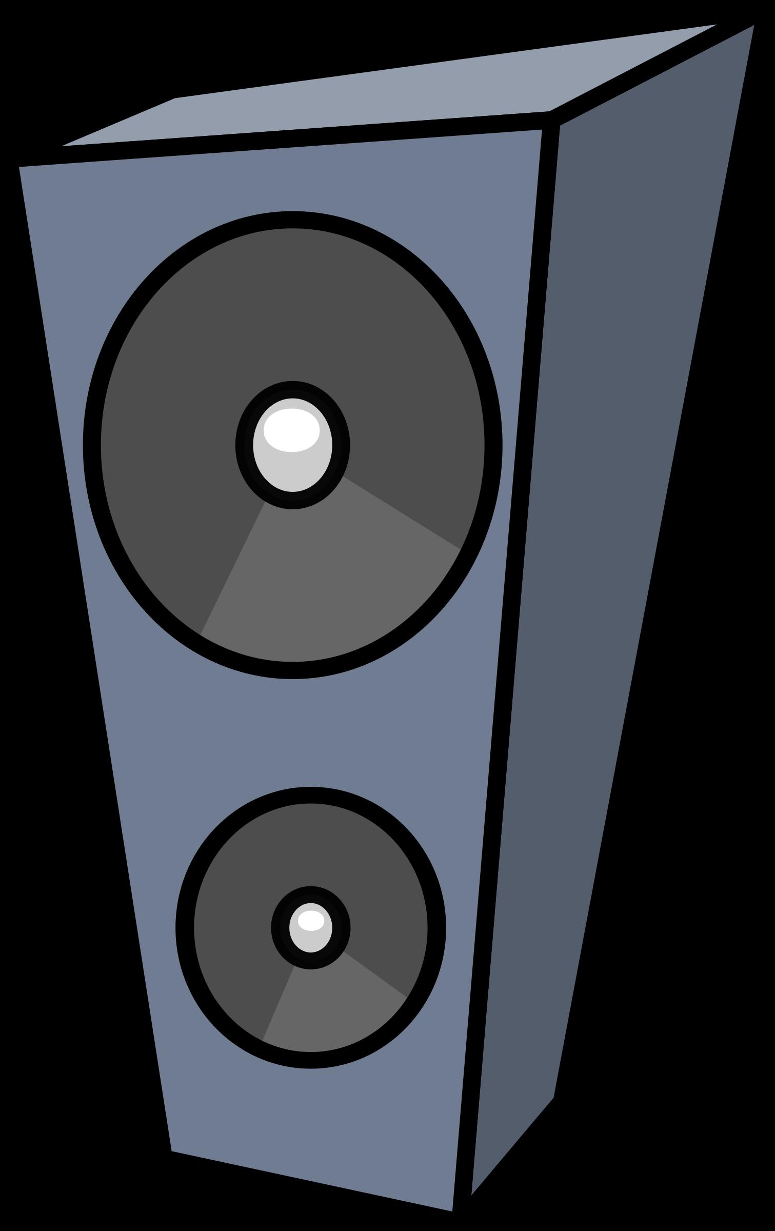 Clipart music abstract. Cartoon speaker big image