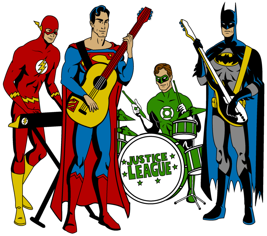 Band by mbecks on. Superheroes clipart justice league