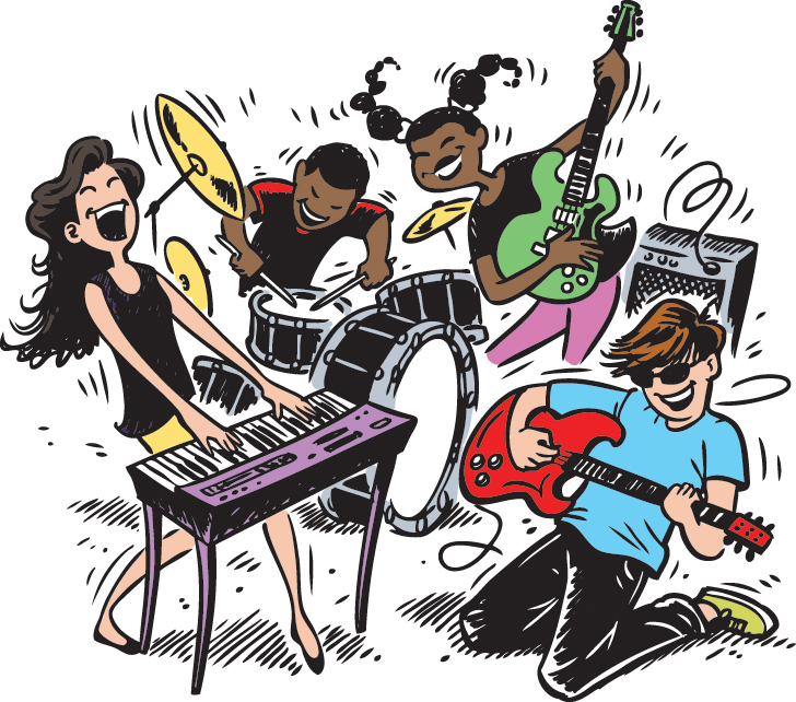 Musician clipart band member. Greenwood county library code