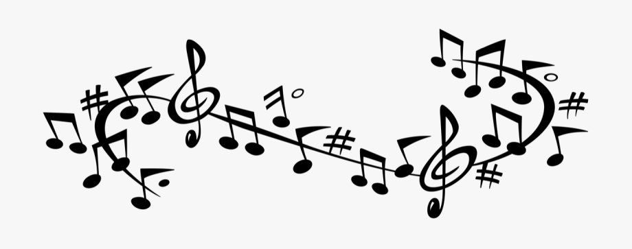 Note transparent free black. Music clipart banner
