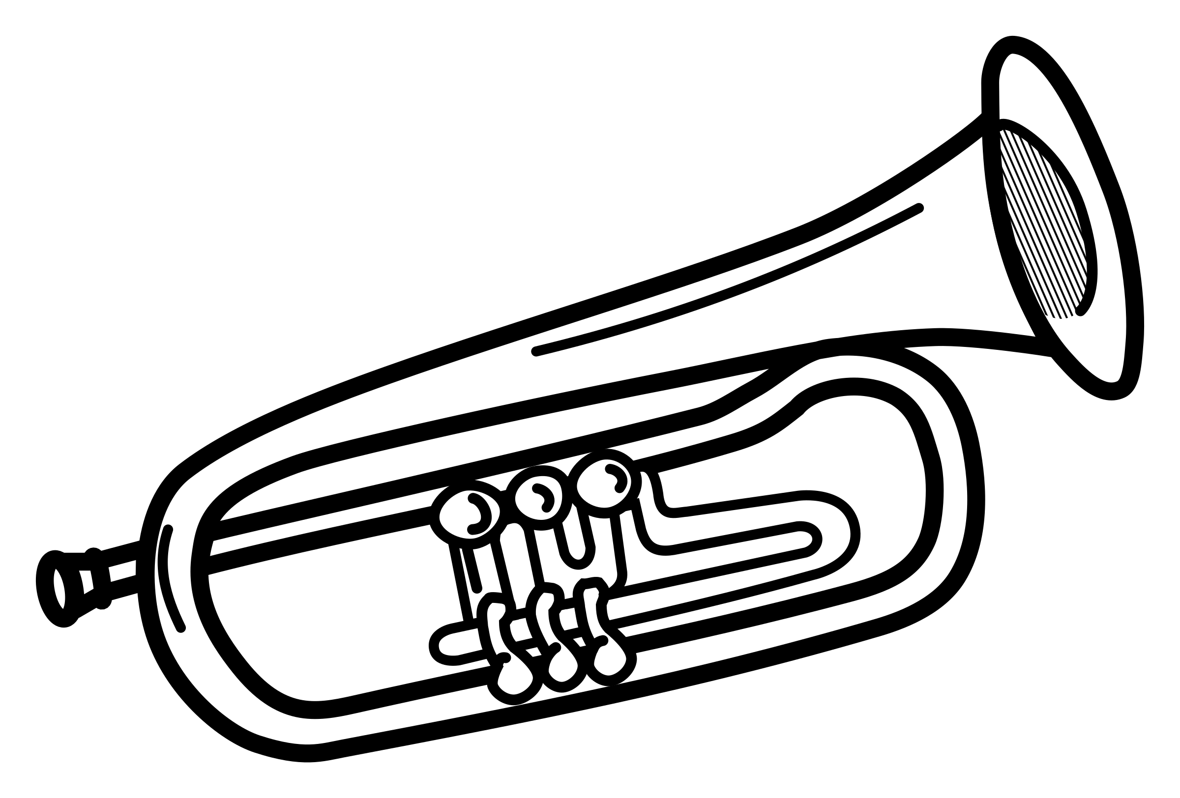 collection of music. Announcements clipart trumpet