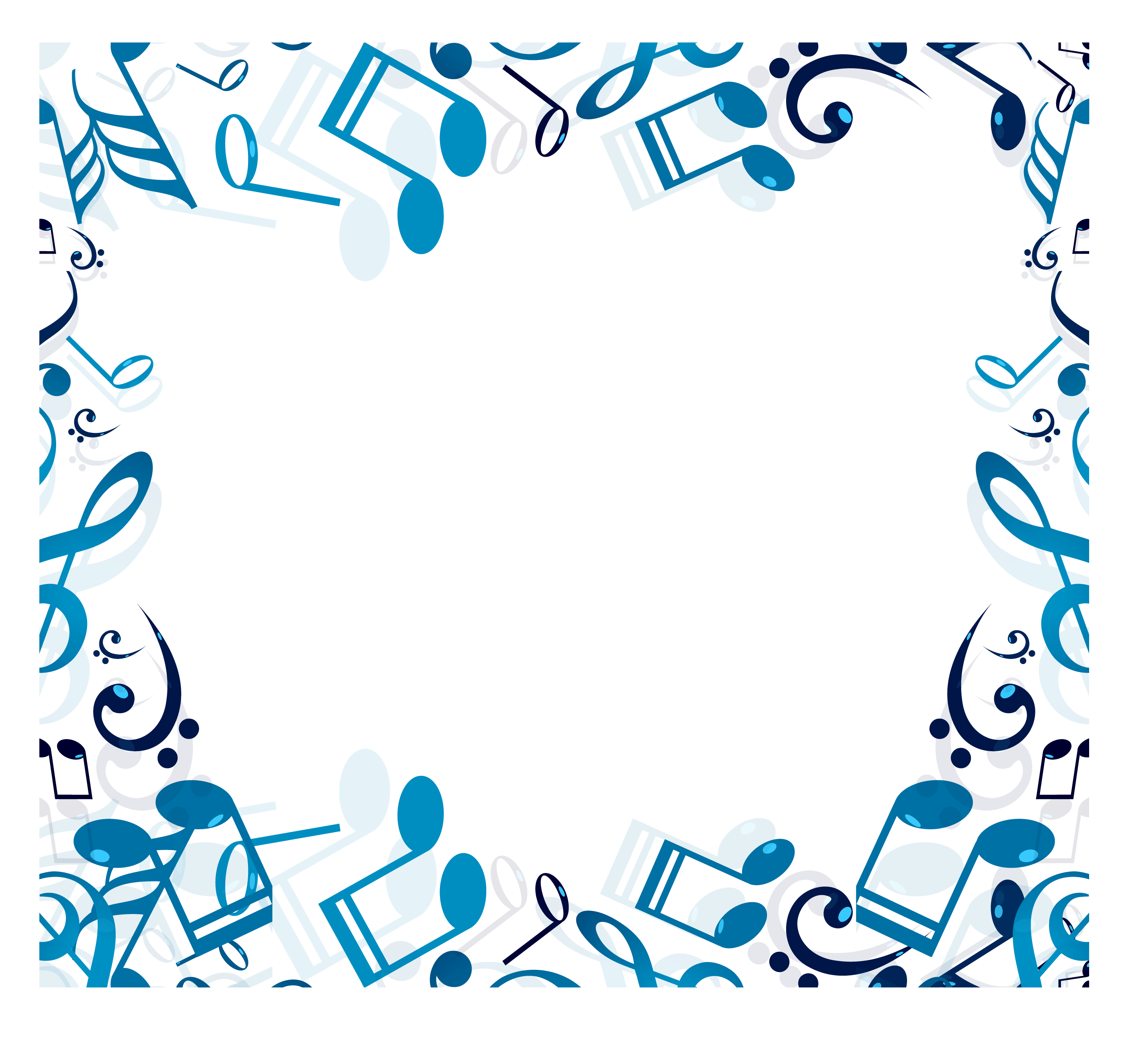 Musical note clip art. Music border png