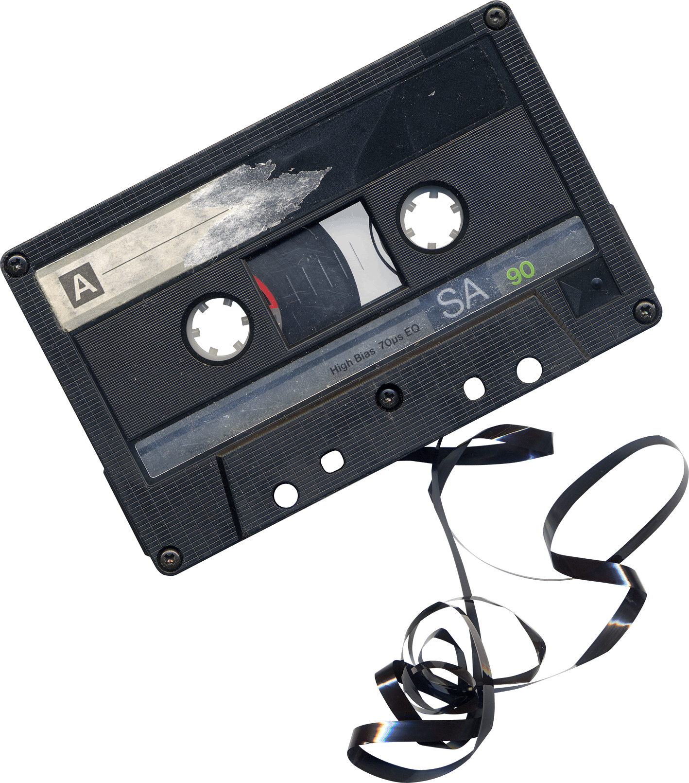 Electronics clipart broken electronics. Damaged audio cassette transparent